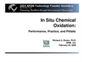 In Situ Chemical Oxidation: Performance, Practice, and Pitfalls - Brochure