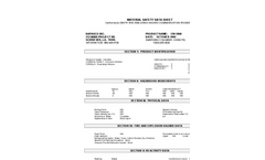 Model CW-2000 HMIS - Hazard Indentification System Brochure