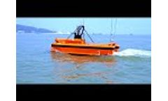 Oceanalpha M40 USV for Oceanographic Survey with Multi Beam Sonar - Video