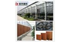 poultry  ventilation   fan+ pad  cooling  system