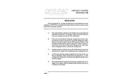 OPTI-PAC - Model 1900 - Cross Fluted Film Fill Media Installation Guide