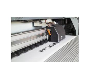 Ice blasting technology for printing - Printing