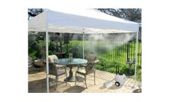 Cool-Off - Model 12v - Rechargeable Portable Misting Tent