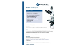 Euromex - Model iScope - Materials Science Microscopes - Brochure
