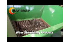 Tyre Steel Wire Shredder/ shred steel wire bundles into small pieces Video