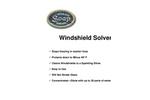 Windshield Solvent Brochure