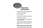 Degreaser Concentrate Cleaner Brochure