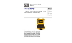MAE Sysmatrack - 12 Channels Seismograph, Expandable to 24 Channels, 24 Bit Resolution With Integrated Battery - Datasheet