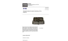 MAE - Model S1SS - 1D Seismic Sensor for Seismic Monitoring, 4.5 Hz Frequency - Datasheet