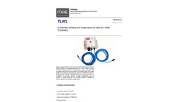 MAE - Model TLW2 - Data Recording Wireless Unit for Heat Flux Meter - Datasheet