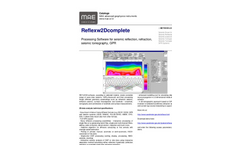 Version Reflexw2Dcomplete - Processing Software for Seismic Reflection, Refraction, Seismic Tomography, GPR - Datasheet