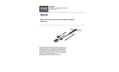 Model T0174 - Shear Hand Vane Tester for Field Surface and Deeper Measures - Datasheet
