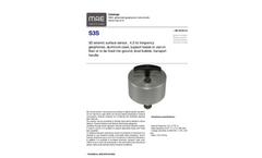 MAE - Model S3S - 3D Seismic Surface Sensor - Datasheet