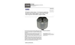 MAE - Model S3S2 - 3D Seismic Surface Sensor - Datasheet