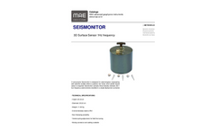 Model SEISMONITOR - 3D Surface Sensor 1Hz Frequency - Datasheet