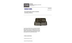MAE - Model S3SA100S - 3D Accelerometer Sensor for Seismic Monitoring 100mV/g - Datasheet