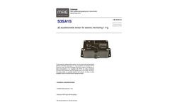 MAE - Model S3SA1S - 3D Accelerometer Sensor for Seismic Monitoring 1 V/g - Datasheet
