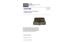MAE - Model S1SA100S - 1D Accelerometer Sensor for Seismic Monitoring 100mV/g - Datasheet