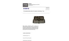MAE - Model S1SA1S - 1D Accelerometer Sensor for Seismic Monitoring 100mV/g - Datasheet