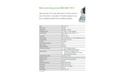 BEA MA 110-1 Moisture Analyzer - Datasheet