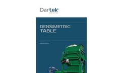 Dartek - Dissymmetric Tables - Brochure