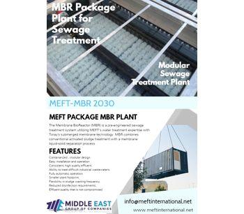 MEFT -MBR- PACKAGE  - MEFT's MEMBRANE BIO REACTOR FOR WASTE WATER TREATMENT