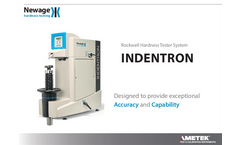 Newage - Indentron Rockwell Hardness Tester - Datasheet