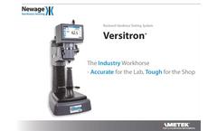 Newage Versitron - Rockwell Hardness Testing System - Datasheet