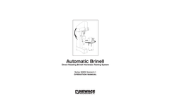 Brinell - Model 9000N - Hardness Tester Brochure
