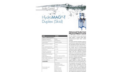 HydroMAG - Model T - Advanced Hybrid Electrolytic / Electrochemical Physical Water Conditioning System Brochure