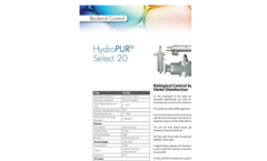 HydroPUR - Ultraviolet Water Disinfection System Brochure