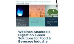 Webinar: Anaerobic Digestion: Green Solutions for Food & Beverage Industry