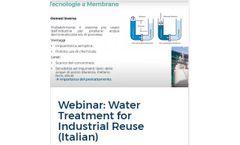 Webinar: Water Treatment for Industrial Reuse (Italian)