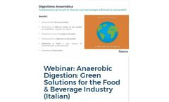 Webinar: Anaerobic Digestion: Green Solutions for the Food & Beverage Industry (Italian)