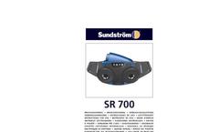 Model SR 700 - Battery Powered Particle Filter Fan Unit Brochure