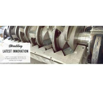 Shredding Line for Aluminium Scraps With Component`s Separation-2