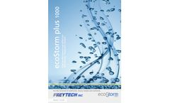 ecoStorm plus 1000 high performance-cost effective Stormwater Treatment System