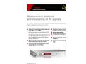 Narda - Model NRA-3000 RX - Remote Analyzer with Receiver Characteristics