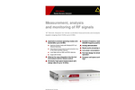 Model NRA-3000 RX - Remote Analyzer with Receiver Characteristics Brochure