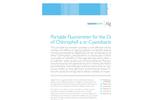 AlgaeChek Portable Fluorometer for the Detection of Chlorophyll a or Cyanobacteria Brochure