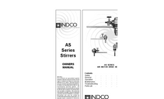 Indco - Model AS15D-S - 1-1/2 HP Air Stirrer & Blade Package with Stand Brochure