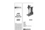 Indco - Model HSD15A - 1-1/2 HP Air Disperser with Tachometer and Benchtop Base Brochure