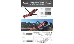 Maximus - Model 518 - Vibrating Tracked Screener Brochure