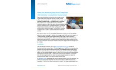 Water Flow Monitoring Helps Avoid Costly Fines - Application Note