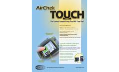 AirChek Touch - Air Sampling Pumps Brochure