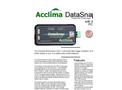 Acclima DataSnap - Model SDI-12 - Stand Alone Universal Portable Data Logger - Brochure