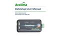 Acclima DataSnap - Model SDI-12 - Stand Alone Universal Portable Data Logger - User Manual