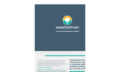 WeatherBrain Environmental Software Brochure