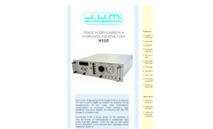 J.U.M. - Model H100 - Trace Hydrocarbon in Hydrogen FID-Analyzer - Brochure