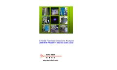 Euro Tech - Model ET5100 - Flue Gas Emissions Analyzer - Brochure